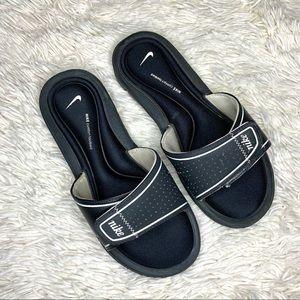 Nike black memory foam slides